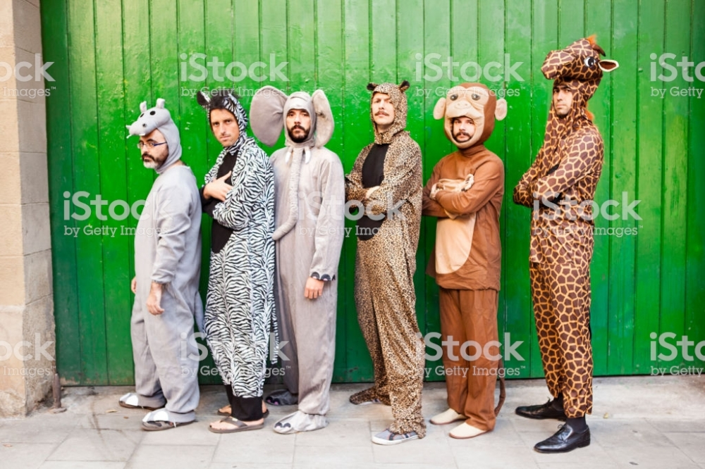 Group of people with animal costumes
