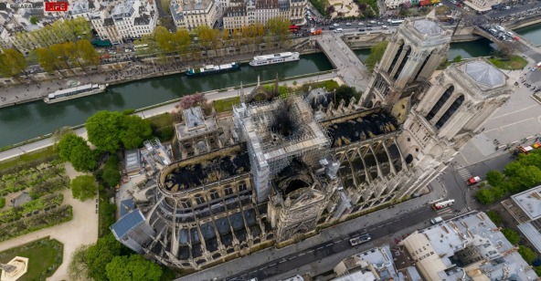 Foto panoramica cattedrale notre dame